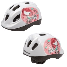 CASQUE POLISPORT FILLE KID PRINCESSE BLANC/ROSE