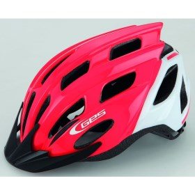 CASQUE GES KORE JUNIOR VTT ROUTE ROUGE/BLANC T.(52-56)